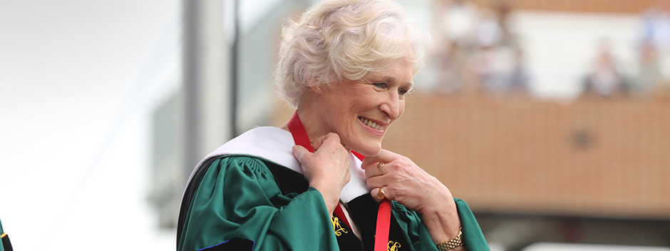 Glenn Close at William & Mary's 2019 Commencement Ceremony